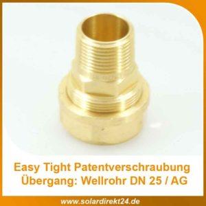 Easy Tight Wellrohr-Verschraubung – DN25 AG